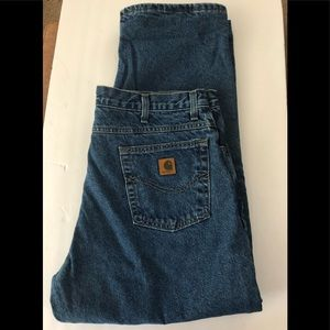 Carhartt Flannel Lined Jeans 40X30 100% Cotton